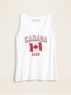EveryWear 2020 Canada Flag Graphic Tank Top for Women