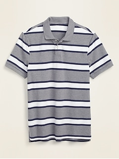 Striped Moisture-Wicking Pro Polo for Men