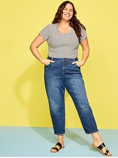 Extra High-Waisted Secret-Slim Pockets Sky-Hi Straight Plus-Size Jeans