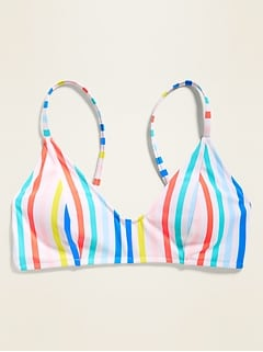 Multi-Stripe Bralette Swim Top for Women