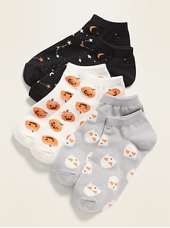 Halloween Ankle Socks 3-Pack for Girls