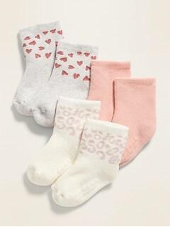 3-Pack Printed Socks for Baby