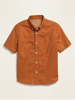 Printed Built-In Flex Short-Sleeve Shirt for Boys