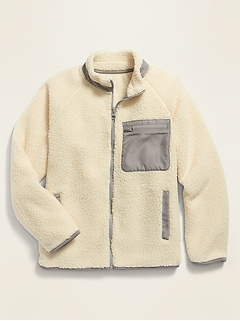 POPSUGAR x Old Navy Sherpa Zip-Pocket Gender-Neutral Jacket