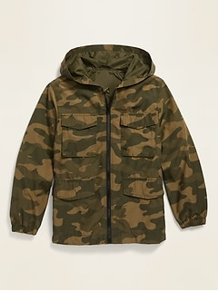 Hooded Utility Field Jacket for Boys