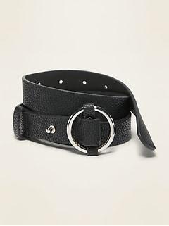 O-Ring Fashion Belt for Women (1-inch)