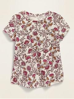 Printed Crew-Neck Short-Sleeve Tee for Toddler Girls