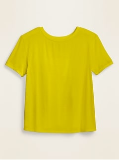 Loose UltraLite Jersey Tulip-Back Performance Top for Women