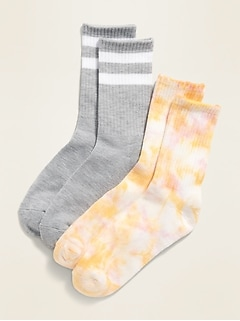 POPSUGAR x Old Navy Printed Gender-Neutral Socks 2-Pack