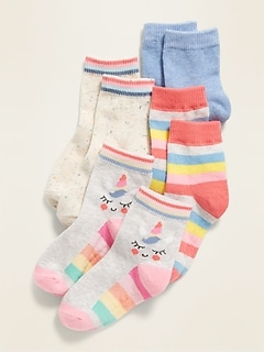 Crew Socks 4-Pack for Toddler Girls & Baby