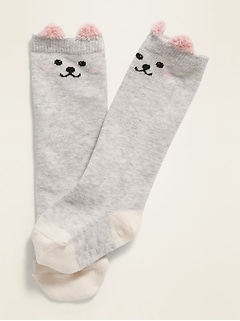 Critter-Graphic Knee-High Socks for Baby