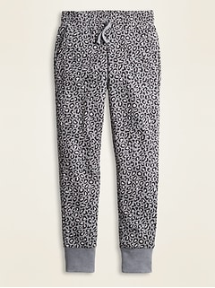 Printed French Terry Street Joggers for Girls