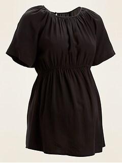 Maternity Waist-Defined Short-Sleeve Top