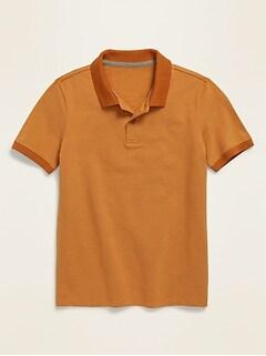 Built-In Flex Short-Sleeve Pique Polo for Boys
