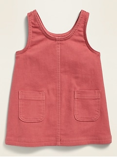 Sleeveless Twill Utility Skirtall for Baby