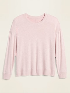 Cozy Plush-Knit Pajama Top for Women
