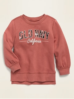 Logo-Graphic Pullover Tunic for Toddler Girls