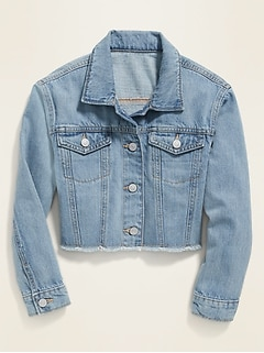 POPSUGAR x Old Navy Cropped Raw-Hem Jean Jacket