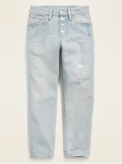 POPSUGAR x Old Navy High-Waisted O.G. Straight Distressed Button-Fly Jeans