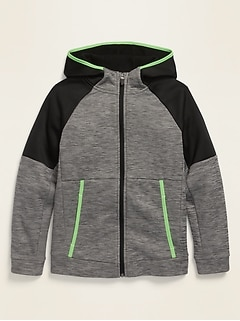 Tech Fleece Color-Block Zip Hoodie for Boys