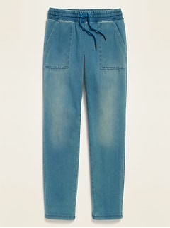 French Terry Drawstring Joggers for Girls