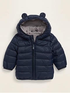 Unisex Hooded Frost-Free Puffer Jacket for Baby