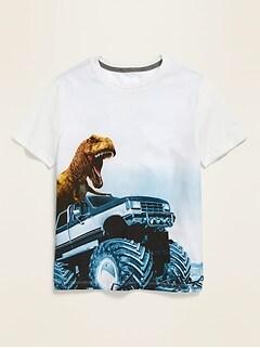 T-shirt à imprimé à manches courtes pour garçon