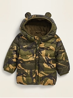 Unisex Camo-Print Hooded Frost Free Jacket for Baby