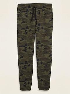 Pantalon d'exercice à jambe fuselée et imprimé camouflage en molleton pour homme