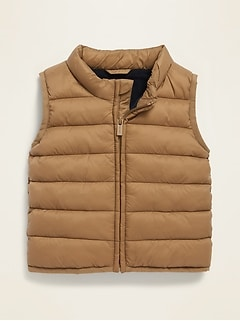 Unisex Frost-Free Solid Puffer Vest for Baby