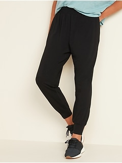 High-Waisted Lightweight French Terry Jogger Pants for Women