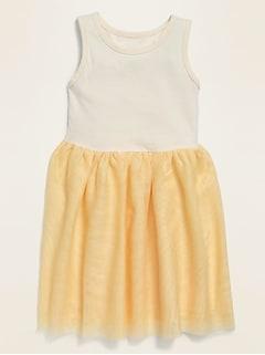 Sleeveless Fit & Flare Tutu Dress for Toddler Girls