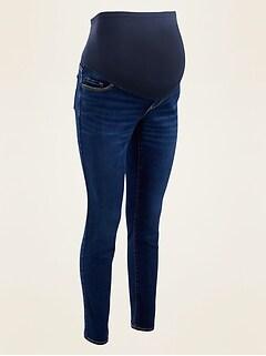 Maternity Full-Panel Medium-Wash Straight-Leg Jeans