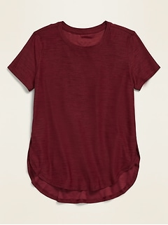 Ultra-Soft Breathe ON Uniform Tulip-Hem Tee for Girls