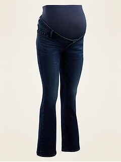 Jean de maternité Rockstar, coupe évasée, de qualité supérieure à panneau complet