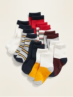 Striped Crew-Socks 8-Pack for Toddler Boys & Baby