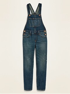 Distressed Jean Overalls for Girls