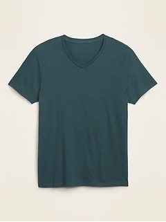 Soft-Washed Perfect-Fit V-Neck Tee for Men