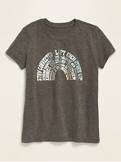 Graphic Short-Sleeve Tee for Girls