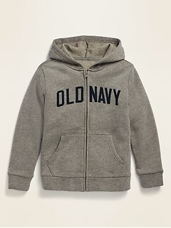 Vintage Logo Zip Hoodie for Boys