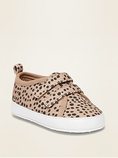 Printed Secure-Close Canvas Sneakers for Baby