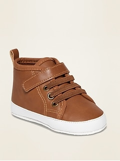 Faux-Leather High-Top Sneakers for Baby
