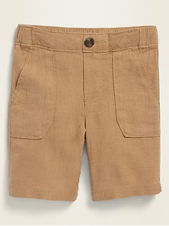 Linen-Blend Shorts for Toddler Boys