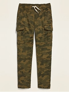 Relaxed Slim Taper Pull-On Cargo Pants for Boys