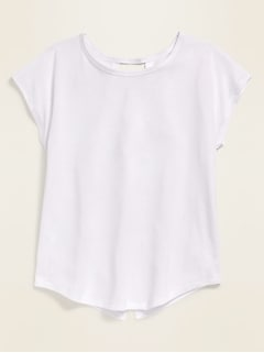 Go-Dry Twist-Back Tee for Girls