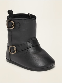 Faux-Leather Buckled Tall Boots for Baby