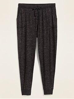 Pantalon d'exercice en tricot moelleux douillet, Taille forte