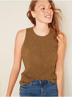 Haut sans manches en tricot léger pour femme