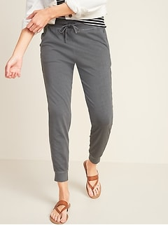 High-Waisted Specially-Dyed Lightweight Jogger Pants for Women