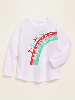 Long-Sleeve Graphic Tee for Toddler Girls